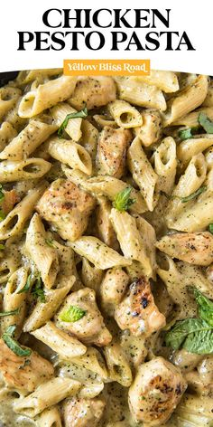 Chicken Pesto Pasta has tender pasta and chicken coated in a rich and creamy pesto sauce. It's an easy, flavorful meal that's ready in 30 minutes! Pesto Pasta Recipes, Chicken Pasta Recipes, Pesto Chicken, Chicken Sausage, Recipes With Pesto Sauce, Creamy Chicken Pasta, Pasta Dinner Recipes, Rotisserie Chicken, Healthy Chicken