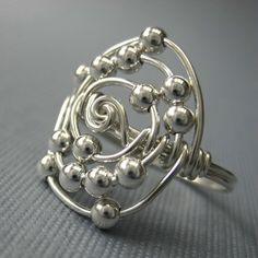 Personalized Atomic Elements Ring Wire Wrapped by holmescraft, $28.00