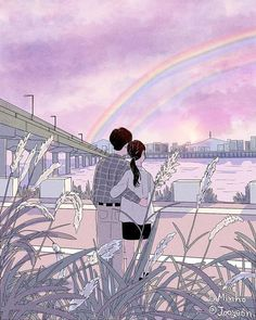 Korean Artist Illustrates The Daily Life Of A Loving Couple In An Intimate Way Cute Couple Drawings, Cute Couple Art, Anime Love Couple, Couple Cartoon, Cute Drawings, Couple Aesthetic, Aesthetic Art, Aesthetic Anime, Aesthetic Drawing