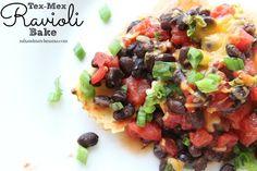 Mix and Match Mama: Dinner Tonight: Tex-Mex Ravioli Bake