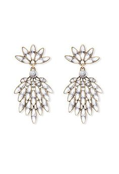 Clustered Rhinestone Drop Earrings | Forever 21 - 1000161321