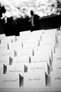 Name cards - simple but classy
