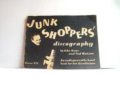 Rare 1940s Record Catalog | WWII Zine Hot Jazz Swing Blues | Pseudonym Discography | 1945 Vinyl 78s | Underground Music | Artist Photographs