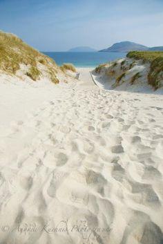 Vatersay, isle of Barra, Scotland, beach sand dunes, by www.andreakuehnis. com