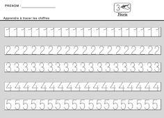 Site maternelle : apprendre à tracer des chiffres en moyenne section