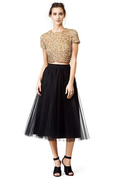 Gold Dust Top by Badgley Mischka
