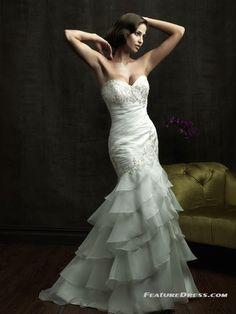 low back mermaid wedding dresses