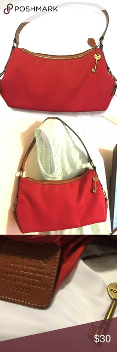 Small Red Fossil Purse Small Red Fossil Purse. Rarely used, Too small for me. In great shape. Fossil Bags Shoulder Bags
