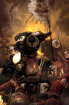 Black Templars - The Crusade Never Ends In the aftermath of the galaxy-wide civil war known as the Horus Heresy, the loyalist space-marine legions were divided into thousand-man chapters. Warhammer 40k Art, Warhammer Fantasy, Martial, Valiant Comics, Space Marine, Sci Fi Art, Character Illustration, Fantasy Art, Concept Art