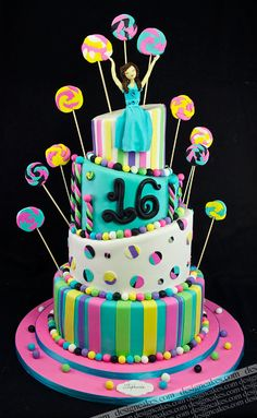 Sweet sixteen cake pictures