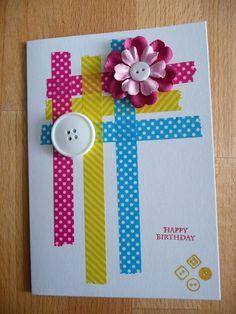 Washi Tape Cards | Washi tape card