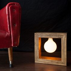Lampara madera diseño original