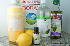 Homemade Lemony Smelling Kitchen Cleaner