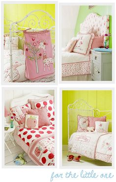 Pink and Yellow toddler room ideas.
