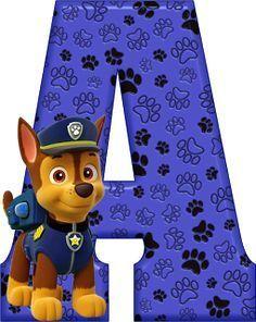 Alfabeto Decorativo: Alfabeto - Patrulha Canina - Chase - PNG - Letras ...