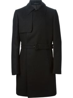 Cerruti Concealed Button Fastening Trench-coat - Verso - Farfetch.com