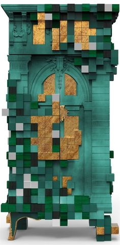 Pixelated Dichotomy Boca Do Lobo Limited Edition Piccadilly Cabinet #Bocadolobocabinet