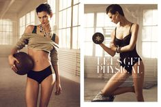 Lingerie Workout Editorials #Fashion #Gym #H http://trendhunter.com