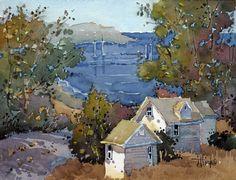J Hicks art | ... Pacific Cove Study an Original Watercolor Painting by Joyce Hicks