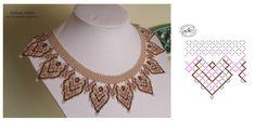 Дыхание Бисера's photos Diy Necklace Patterns, Jewelry Patterns, Beading Patterns, Beaded Collar, Handmade Beads, Beads And Wire, Beading Tutorials, Loom Beading, Bead Weaving