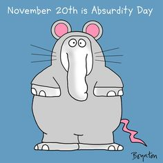 It's not always easy to find the exact right outfit for Absurdity Day (November 20.)