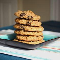 Soft and spiced oatmeal raisin cookies