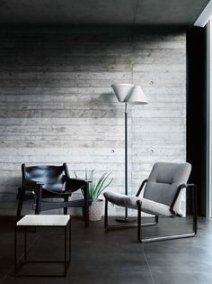Cool chairs (the one on the left is my fave) Style and Create — Beautiful photo series by Damien Russell, a still. Modern Interior Design, Interior Architecture, Interior And Exterior, Beautiful Architecture, Home Decor Furniture, Modern Furniture, Furniture Design, Arranging Furniture, Loft