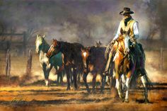 Chris Owen Artist Cowboy and Western Art Prints capture the ranch style life in all it detail. Cattle drives, Horses and more. Cowboy Horse, Cowboy Art, Western Cowboy, Western Style, Cow Girl, Gaucho, Matisse, Boots Boho, Chris Owen