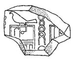 Clay seal fragment bearing Hor-Aha's serekh together with ḥ and t signs, perhaps meant to signify a personal name Htj
