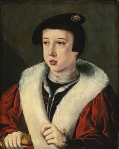 PROPERTY FROM THE COLLECTION OF THE EARLS OF WARWICK Circle of Jan van Scorel PORTRAIT OF A BOY, HEAD AND SHOULDERS, WEARING A BERET, POSSIBLY THE YOUNG FERDINAND I, HOLY ROMAN EMPEROR (1503–1564)