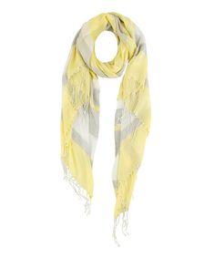 Yellow Lina Stripe Scarf #zulily #zulilyfinds
