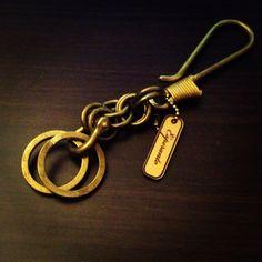 Esperanto brass keyholder