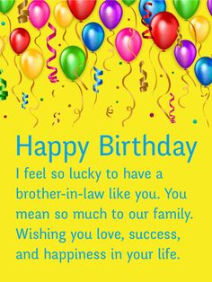 Brother in law birthday card happy birthday watch pres https happy birthday card for brother in law colorful balloons and bookmarktalkfo Image collections