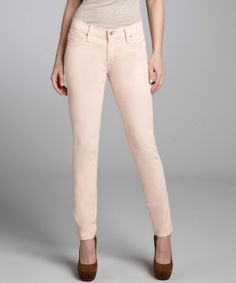 James Jeans : peach stretch twill 'Twiggy' skinny jeans : style # 321931403