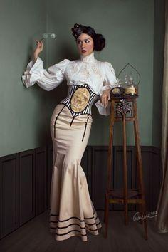 ʂŧɘąɱ ~ Steampunk & Victoriana ~ fitted corset dress