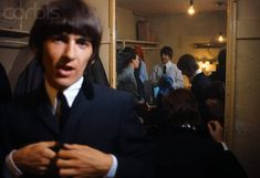 August The Beatles putting on their stage clothes prior to their performance at the Bournemouth Gaumont. Les Beatles, John Lennon Beatles, Beatles Band, All My Loving, Love Me Do, Great Bands, Cool Bands, The Quiet Ones, Beatles Photos