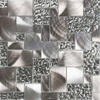 Giorbello Venetian Random Sized Glass and Metal Mosaic Tile in Silver & Reviews | Wayfair