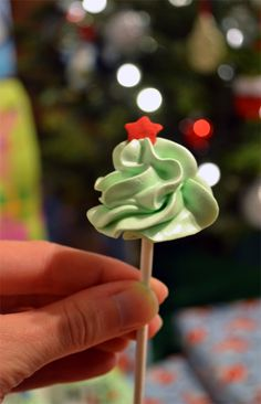 Ice Cream Before Dinner: Christmas Tree Meringue Pops & How-To Video