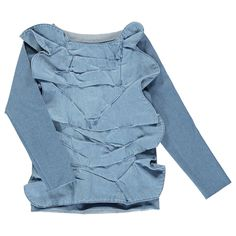 NIKOLIA Denim 3D Applique Top