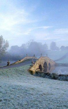 Oxford Bridge at Stowe - Buckinghamshire, England