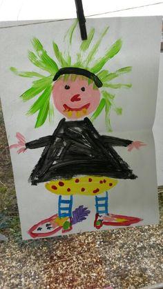 Platvoetje schilderen Fairy Tale Crafts, Art For Kids, Crafts For Kids, Hocus Pocus, Gnomes, Fairy Tales, Kindergarten, Witch, Christmas Ornaments