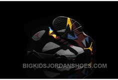 new concept d89c2 f5b1a 2016 Nike Air Jordan 7 VII Retro Bordeaux Sneakers Black Bordeaux-Light  Graphite-Midnight Fog Kids Shoes 304775-008 Hot, Price   85.00 - Big Kids  Jordan ...