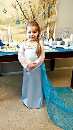 Frozen Elsa's dress! #Birthday #Frozen birthday party