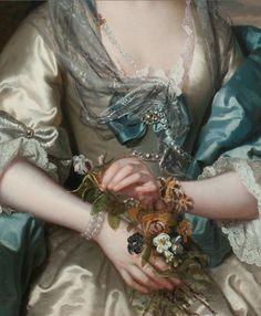 Franz Van Der Mijn 1719-1783 Portrait of a Lady
