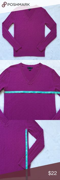 Like New Tommy Hilfiger Cable Knit Sweater Like New Tommy Hilfiger Cable Knit Sweater, size large.  💯 % cotton. Worn once and like new.  See pictures for measurements. 😊 Tommy Hilfiger Sweaters