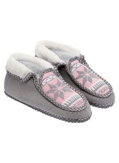 Grey Norwegian Slippers