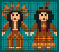 Image du Blog looms.centerblog.net American Indians, Native American, Nativity Crafts, Beading Patterns, Pixel Art, Cross Stitch Patterns, Needlework, Folk, Projects To Try