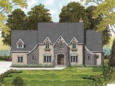 Home Plans HOMEPW10044 - 3,559 Square Feet, 4 Bedroom 4 Bathroom Tudor Home with 3 Garage Bays