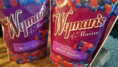 The holidays has been filled with many indulgences.  My family tried not to over indulge and opted to incorporate healthier options over the holidays.  We received samples of Wyman's  Wild Blueberries.
