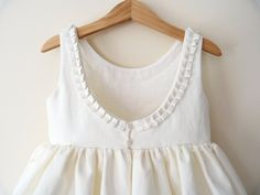 pleat detail and low back